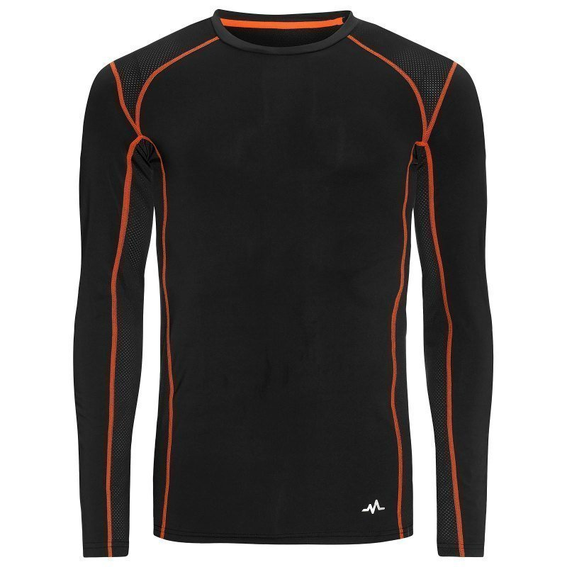 180 bpm Men's Tech Roundneck L Dark Navy/Flame