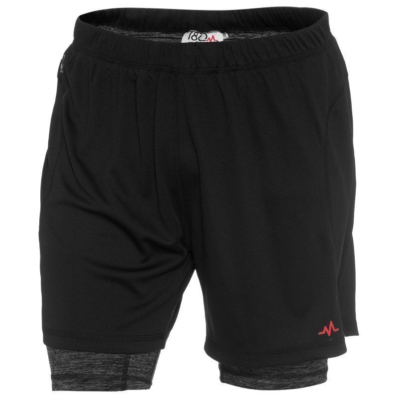 180 bpm Men's XC Run 2in1 Shorts S Black