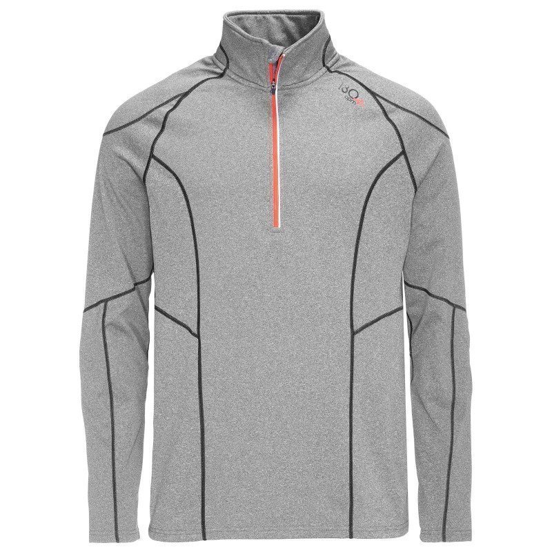 180 bpm Men's XC Run Zip Sweater S Grey