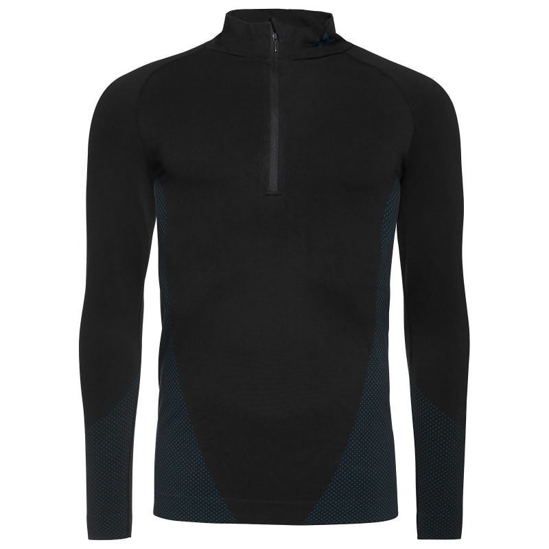 180 bpm Seamless Tech Men's Top S Black / Steel Blue