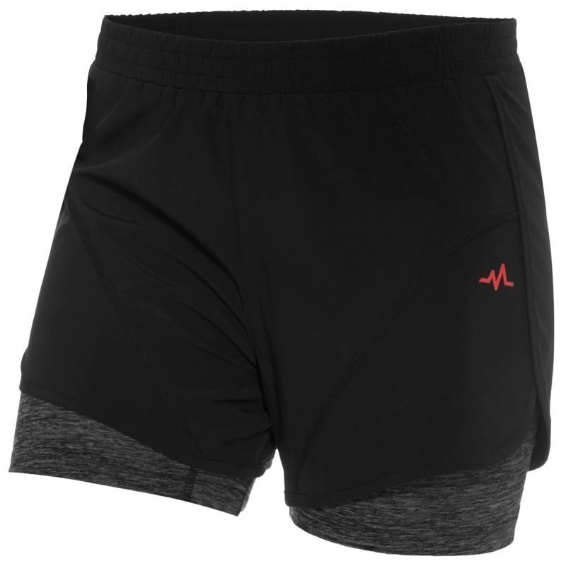 180 bpm Women's XC Run 2in1 Shorts M Black