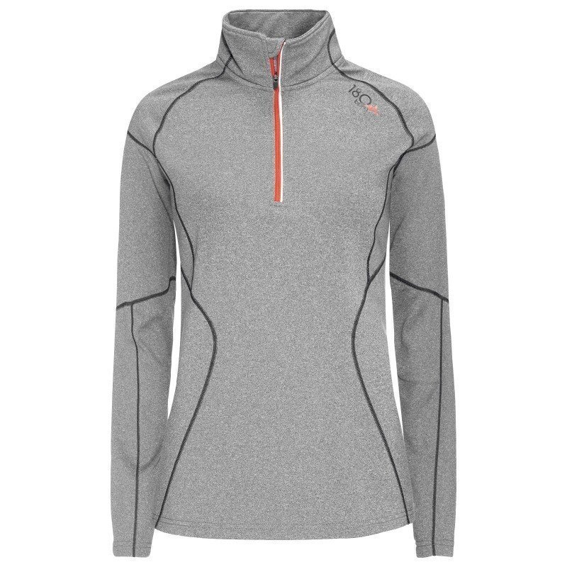 180 bpm Women's XC Run Zip Sweater L Grey
