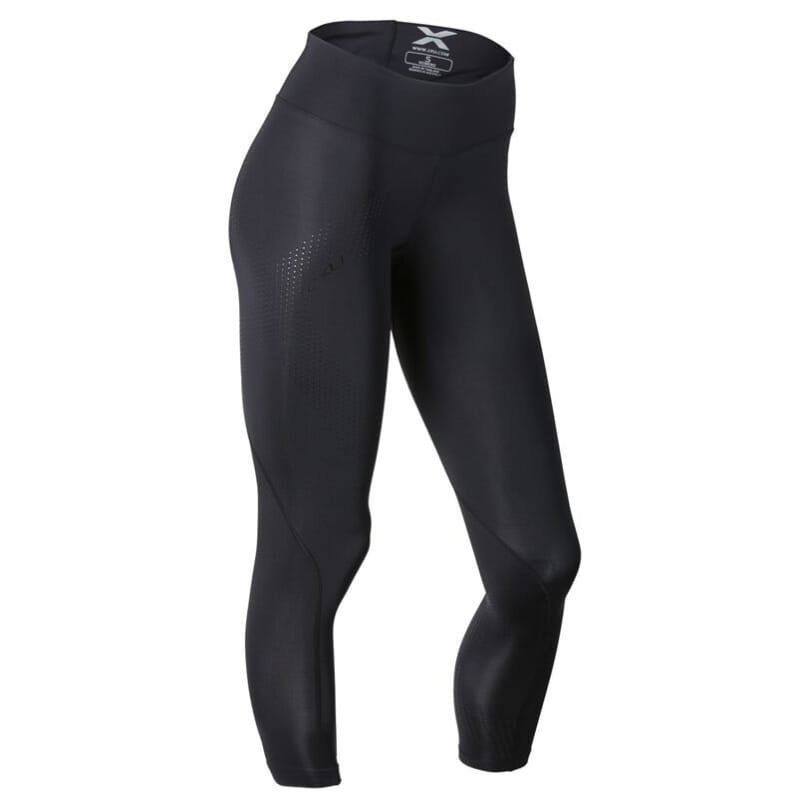 2XU Mid-Rise Compression 7/8 Tight Women S BLACK/DOTTED BLACK