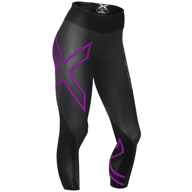 2XU Mid-Rise Compression 7/8 Tight Women XS INK TONAL/CHERRY PINK