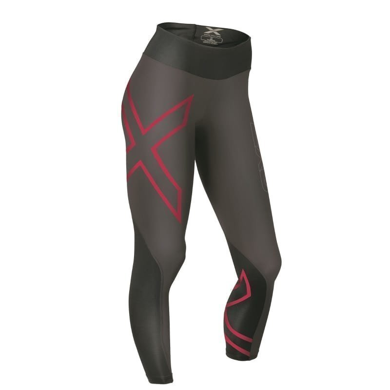 2XU Mid-Rise Compression Tights Women XL INK TONAL/CHERRY PINK