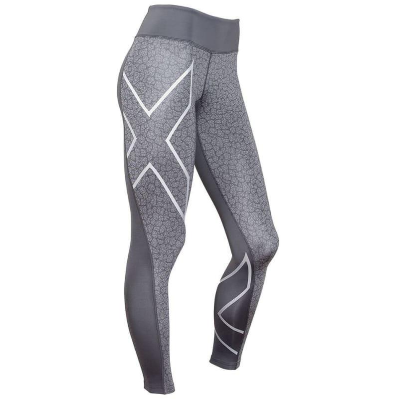 2XU Pattern Mid-Rise Compression Tight Women XL DARK SLATE/BONE PRINT