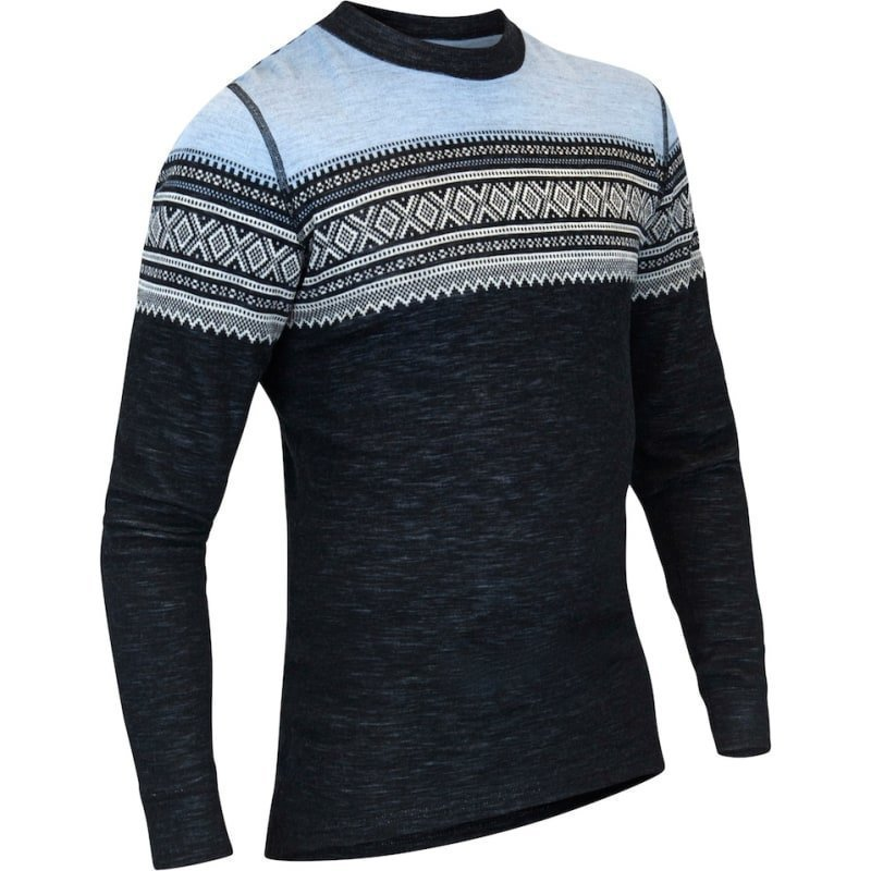 Aclima De Marius Crew Neck Man XS JET BLACK/NATURE/ICE BLUE