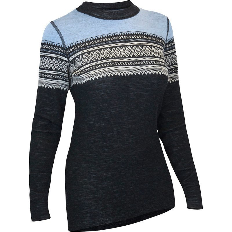 Aclima De Marius Crew Neck Woman L JET BLACK/NATURE/ICE BLUE