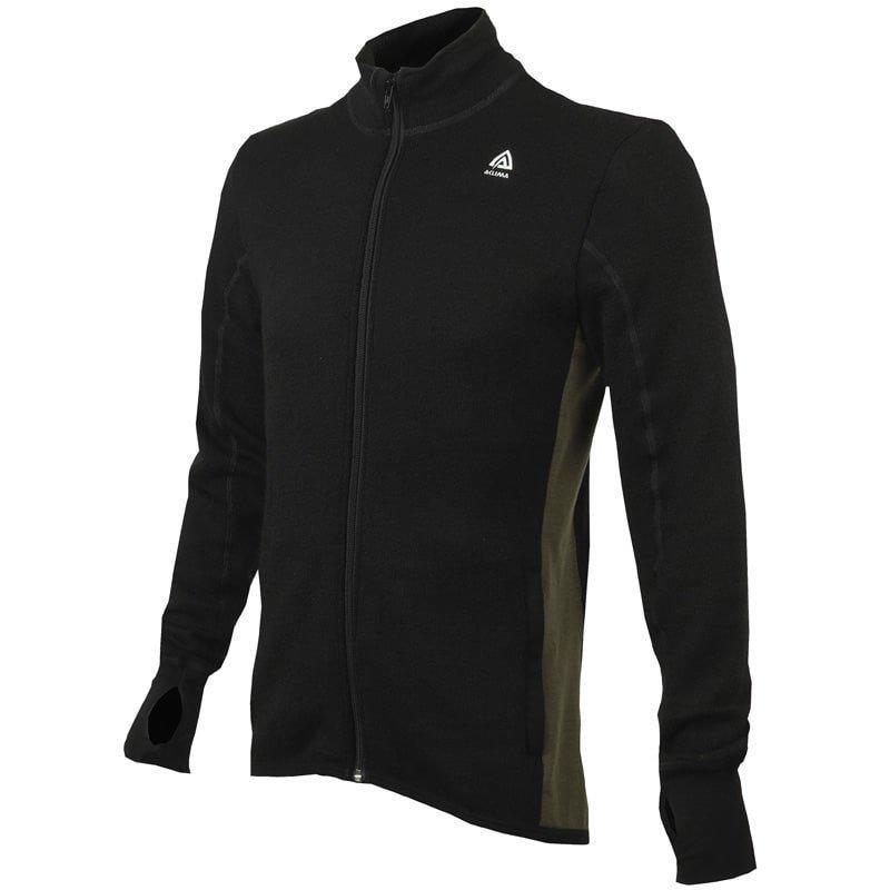 Aclima Hotwool Jacket Man S JETBLACK/OLIVE NIGHT