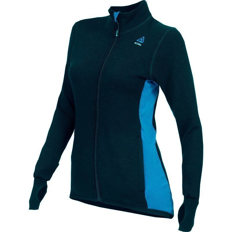 Aclima Hotwool Jacket Women's XS JET BLACK/BLUE SAPPHIRE