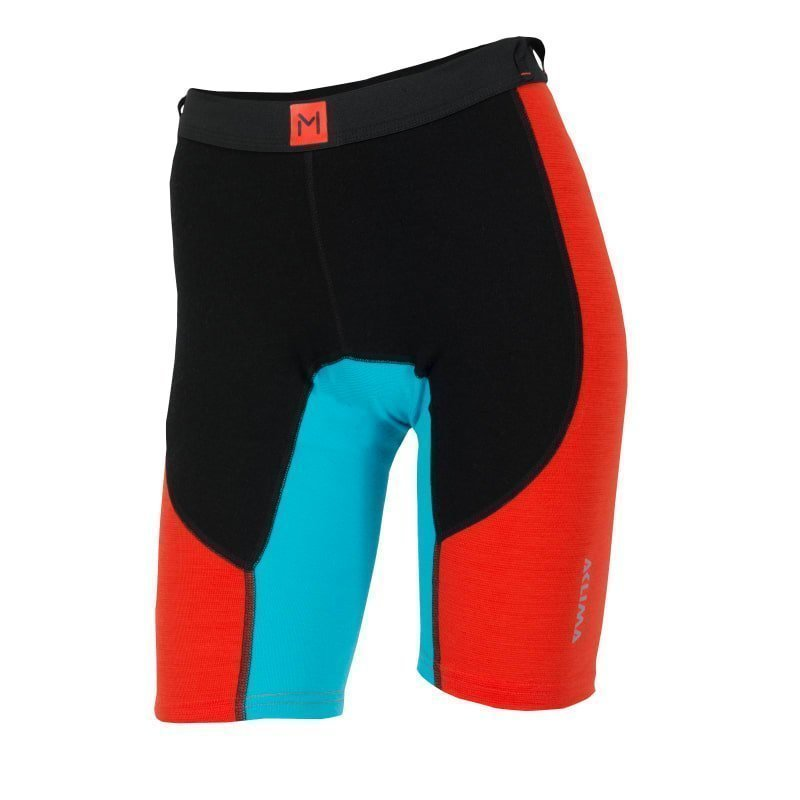 Aclima Lars Monsen Anárjohka Long Shorts Women XS JET BLACK/POINCIANA/BLUE