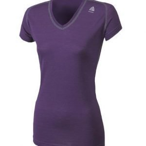Aclima LightWool T-Shirt V Women partician purple