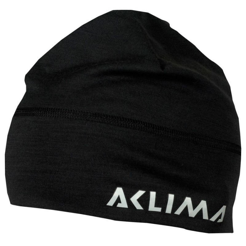 Aclima Lightwool Beanie 1SIZE Jet Black