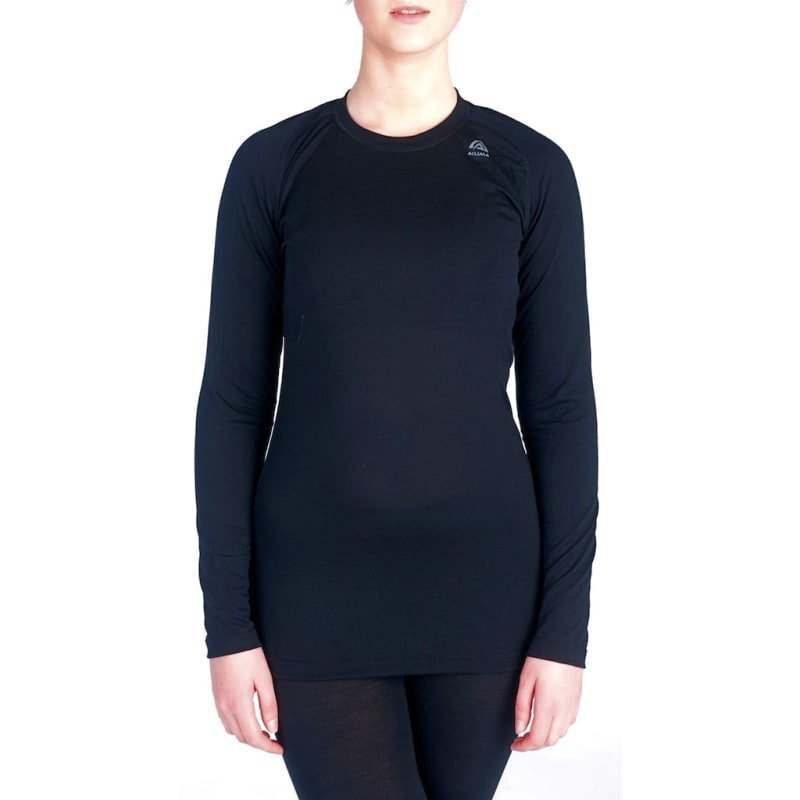 Aclima Lightwool Crew Neck Woman L Jet Black