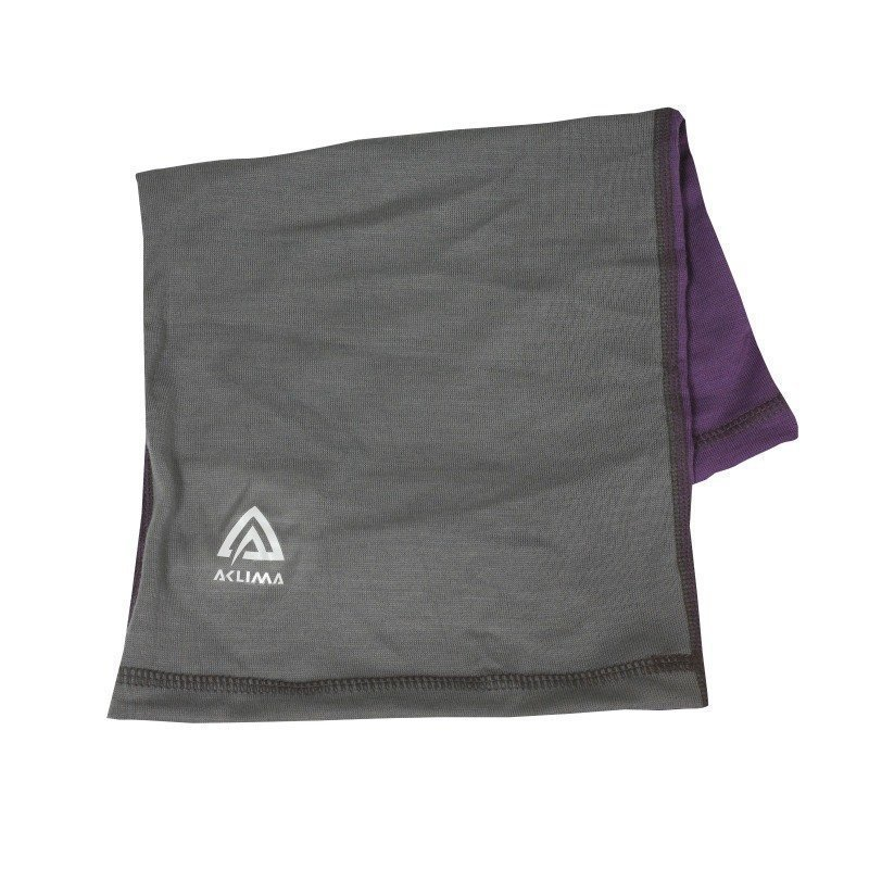 Aclima Lightwool Headover Children 1SIZE Purple/Grey