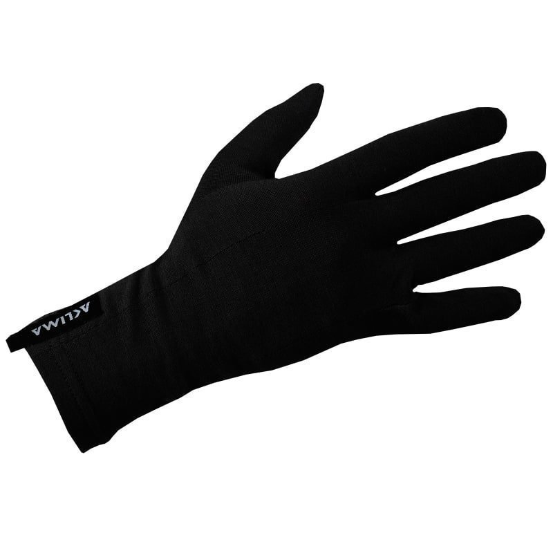 Aclima Lightwool Liner Gloves Unisex L Jet Black