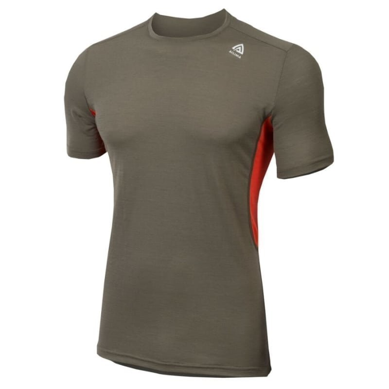 Aclima Lightwool T-Shirt Man XS Ranger Green/Poinciana