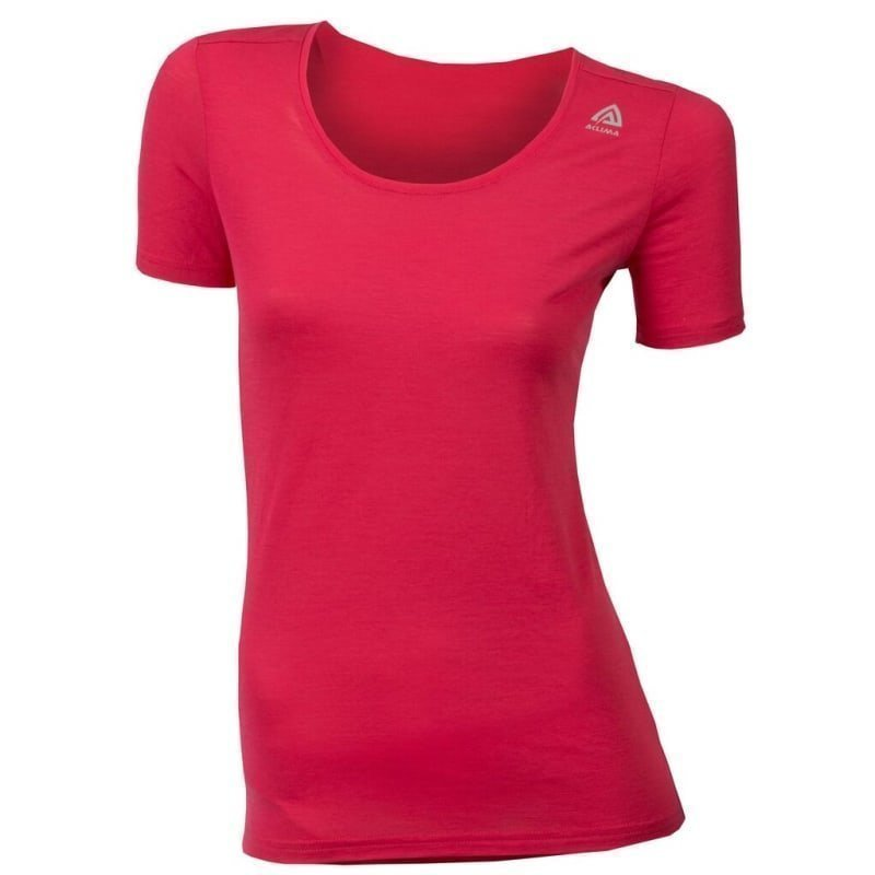 Aclima Lightwool T-Shirt Round Neck M Raspberry