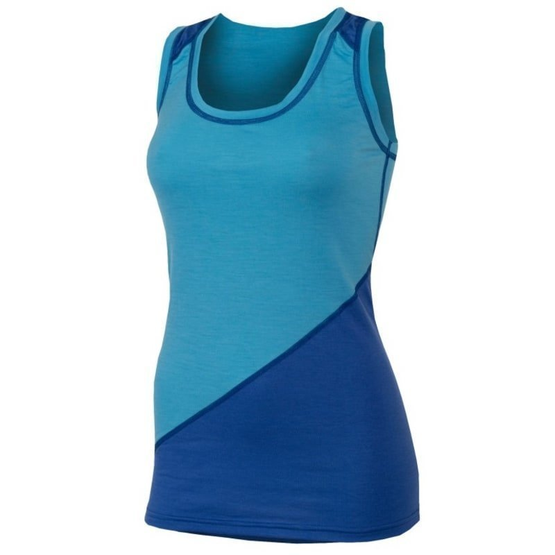 Aclima Lightwool Wrestler Shirt Woman S HERITAGE BLUE/DAZZLING BLUE