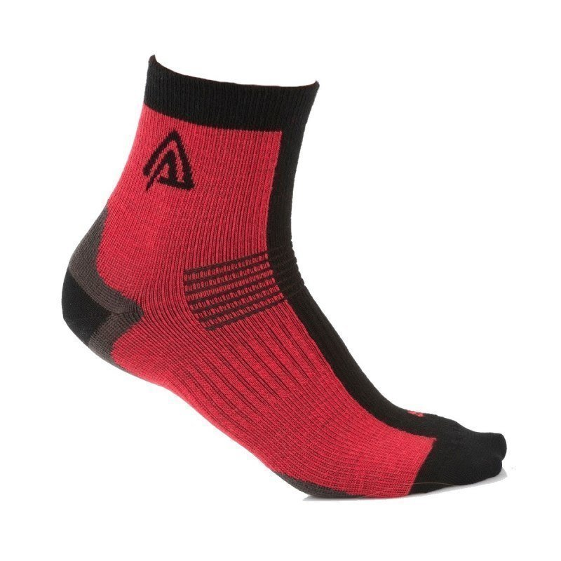 Aclima Running Socks 2-Pack 32-35 Raspberry/Jet Black
