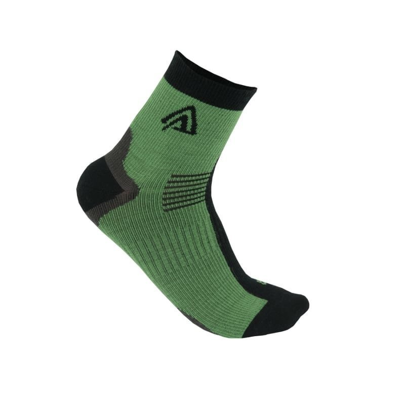 Aclima Running Socks 2-Pack 36-39 Deep Grass Green/Jet Black