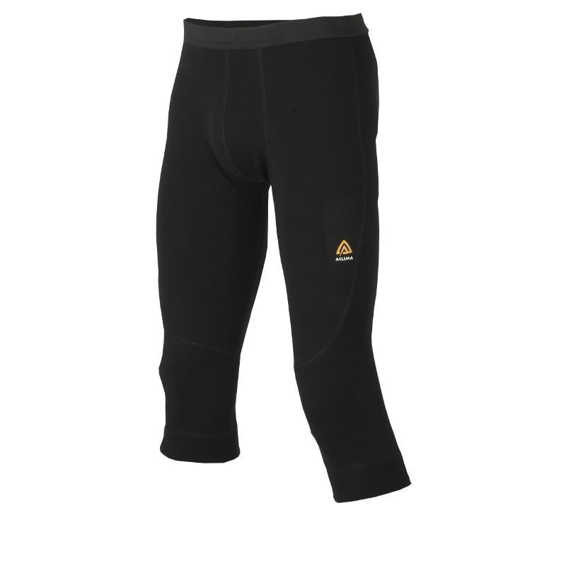 Aclima Warmwool 3/4 Longs Man XS Jet Black