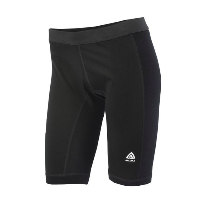 Aclima Warmwool Long Shorts W/Windstop Woman XS Jet Black