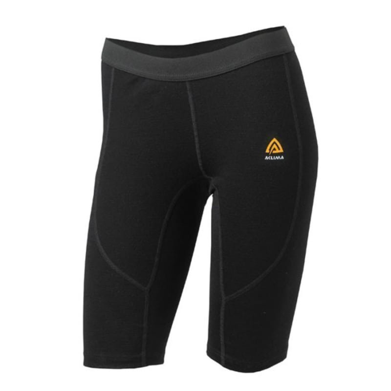 Aclima Warmwool Long Shorts Women's L Jet Black