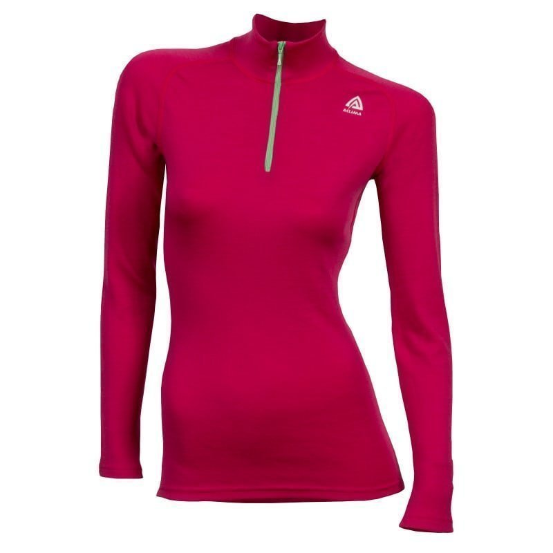 Aclima Warmwool Mock Neck Women's M Cerise