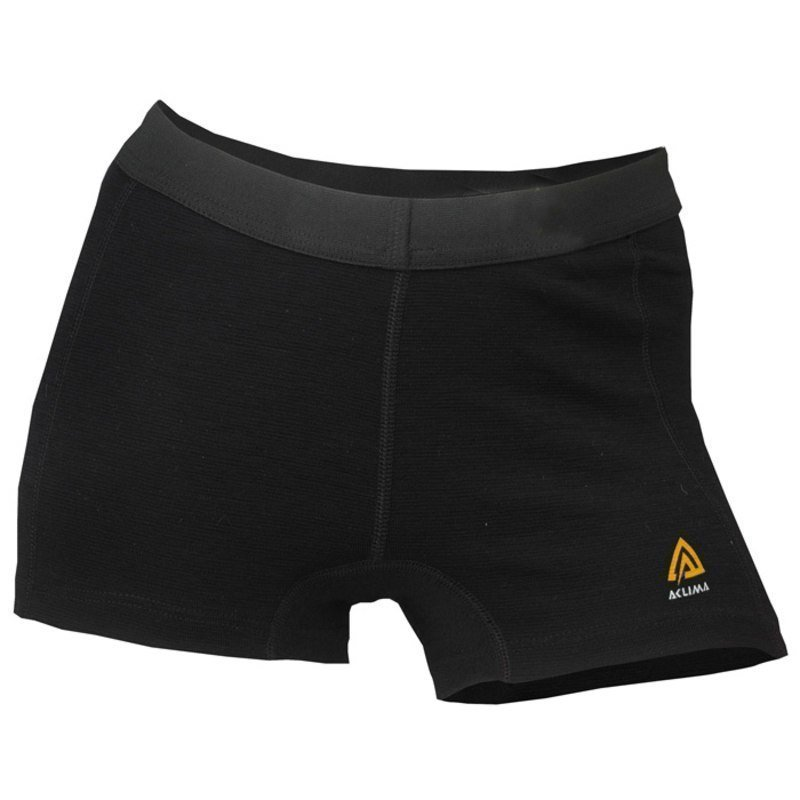 Aclima Warmwool Shorts Woman L Jet Black