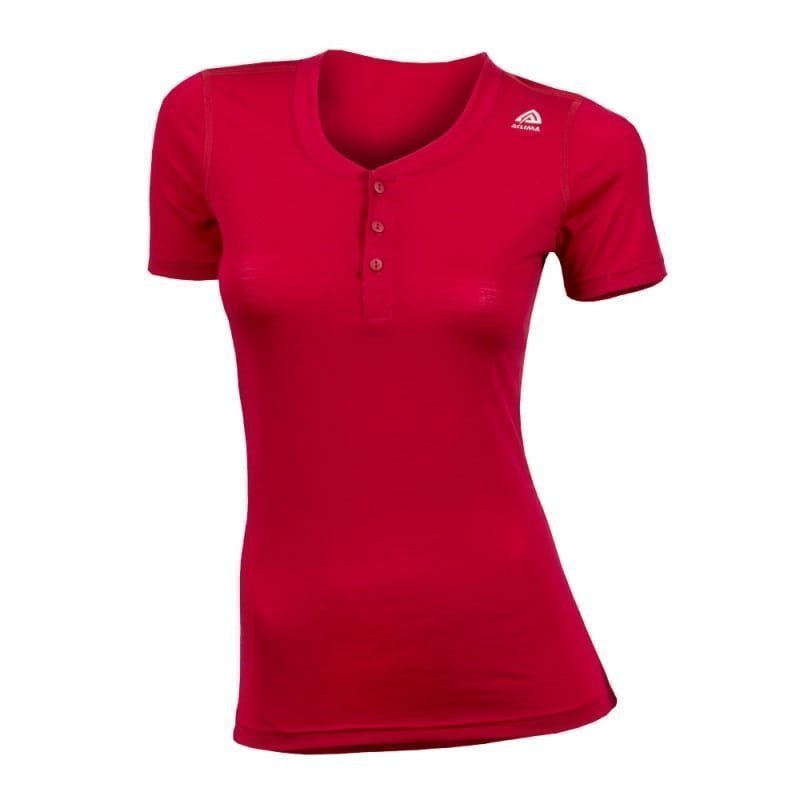 Aclima Women's Lightwool Henley Shirt XS Persian Red