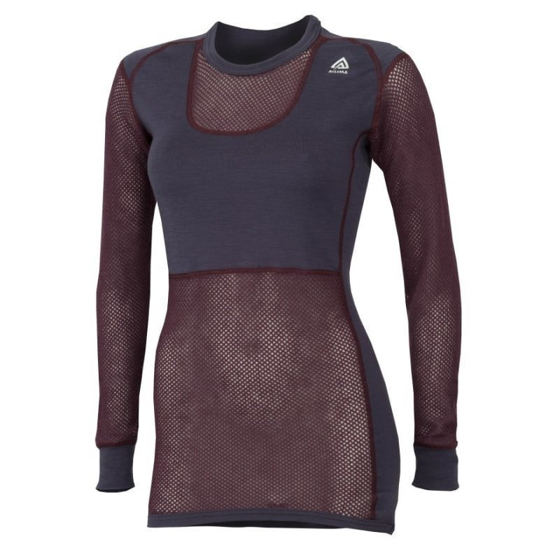 Aclima Woolnet Crew Neck Woman M Blackberry Wine/Periscope