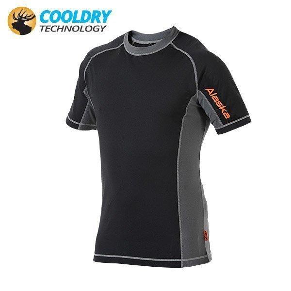 Alaska Cooldry 180G tekninen T-paita musta/harmaa