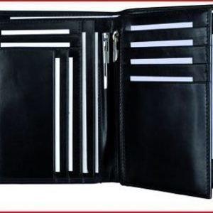 Alassio matkalompakko musta genuine leather