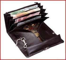 Alassio naisten lompakko musta nahka