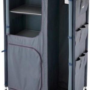 Aluminium 4 shelf & wardrobe