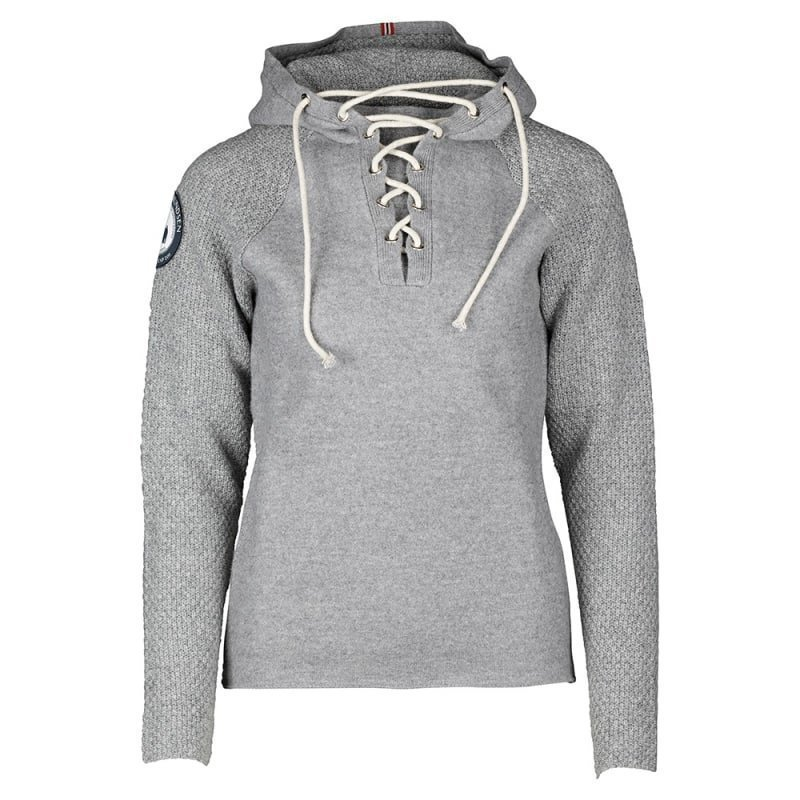 Amundsen Boiled Hoodie Mens Laced XXL Light Grey