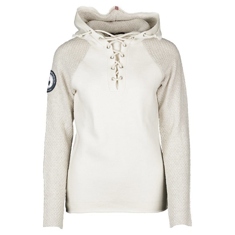 Amundsen Boiled Hoodie Womens Laced L Oatmeal