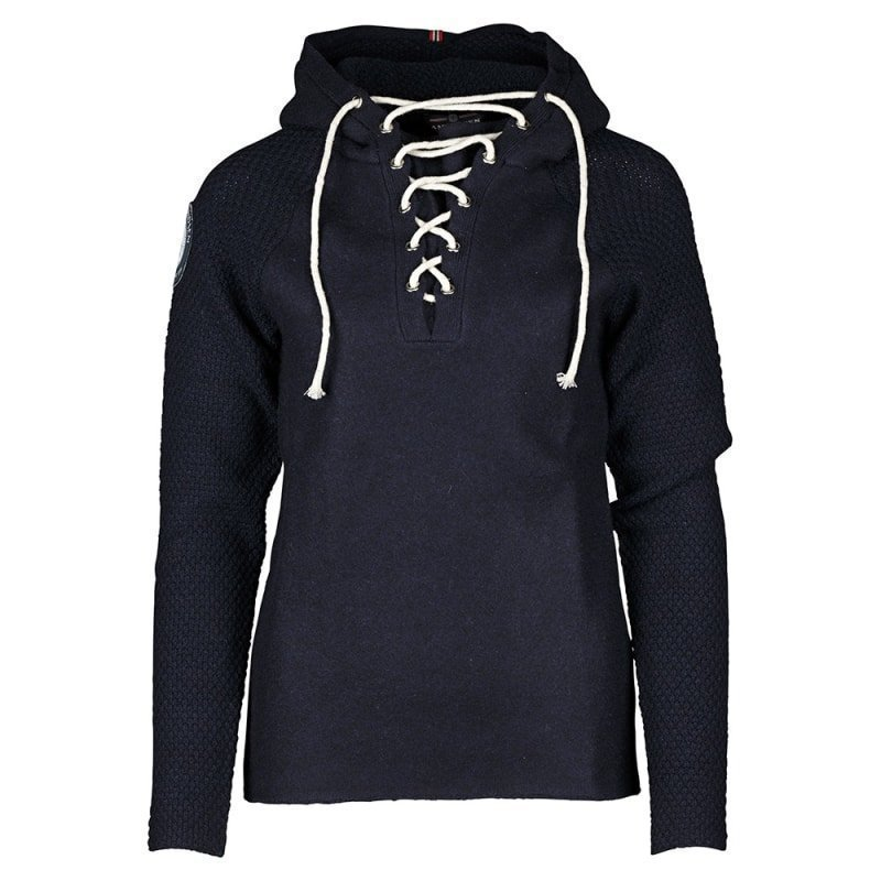 Amundsen Boiled Hoodie Womens Laced M Navy