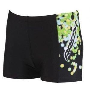 Arena Flake Jr poikien uimaboxerit musta/vihreä