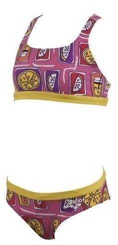 Arena Fruit Jr 2 osainen tyttöjen bikinit pinkki/keltainen