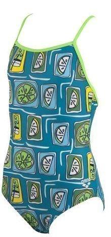 Arena Fruit Jr. tyttöjen uimapuku turkoosi/vihreä