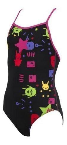 Arena Gadget Jr. tyttöjen uimapuku musta/violetti