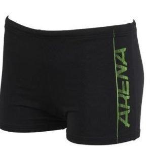 Arena Imprint Jr poikien uimaboxerit musta/vihreä