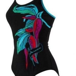 Arena Spice Strap Back naisten uimapuku musta/sininen