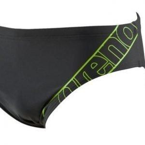 Arena Spring Brief asphaly miesten uimahousut musta/vihreä