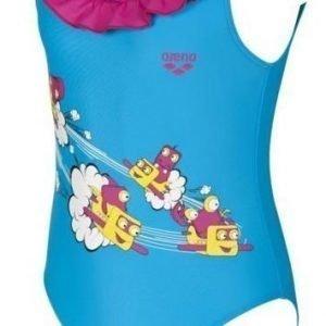 Arena Swash Kids girl Turk/Pink tyttöjen uimapuku