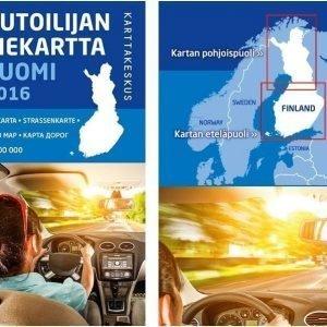 Autoilijan Tiekartta Suomi 2016