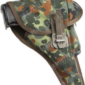BW P1 pistoolikotelo BW-kiinnikeellä Flecktarn ylijäämä