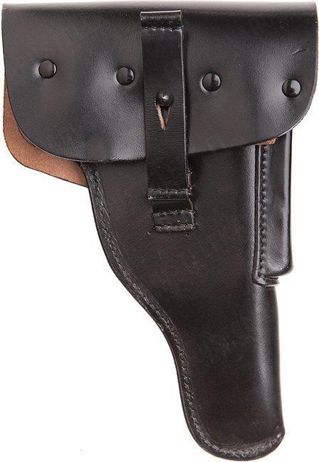BW P1 pistoolikotelo mustaa nahkaa ylijäämä